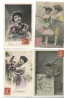 BEAU  LOT DE 20 CARTES POSTALES FANTAISIE / ANNEE DEBUT 1900 . Cartes Ecrite .lot 8 FRAIS DE LIVRAISON VOIR ANNONCE - Cartoline