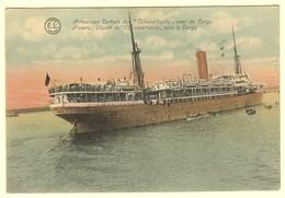 """A1481[Postkaart] Antwerpen. Vertrek Der """"Elisabethville"""" Naar De Congo / Anvers Déport [sic] De ... (E. Lilot, E.L.) - Antwerpen"""
