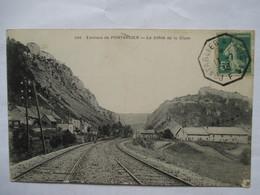 PONTARLIER  A  PARIS  1°   F         ....    DEFILE  DE  LA  CLUZE        TTB - Storia Postale