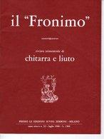 Revue Guitare - Il Fronimo Rivista Di Chitarra E Liuto N° 32 - 1980 - Muziek