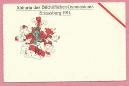 67 - STRASSBURG - STRASBOURG - Carte D'étudiant - Studentika - Abituria Des Bischöflichen Gymnasiums - Strasbourg