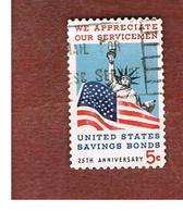 STATI UNITI (U.S.A.) - SG 1300 - 1966  SAVINGS BOND - SERVICEMEN       - USED° - Stati Uniti
