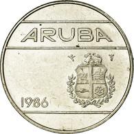 Monnaie, Aruba, Beatrix, 25 Cents, 1986, Utrecht, TTB, Nickel Bonded Steel, KM:3 - [ 3] 1815-… : Kingdom Of The Netherlands