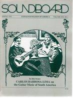 Revue Guitare Soundboard Guitar Fondation Of America N° 1 - 1992 - Art