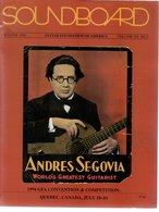 Revue Guitare Soundboard Guitar Fondation Of America N° 3 - 1994 Andres Segovia - Art