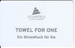 GREECE - Atlantica, Towel Card, Used - Cartes D'hotel