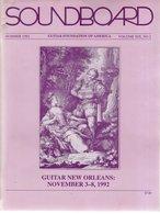 Revue Guitare Soundboard Guitar Fondation Of America N° 2 - 1992 - Art
