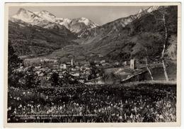 BARDONECCHIA - PANORAMA DI BORGO VECCHIO - FIORITURA DI NARCISI - TORINO - 1947 - Italia