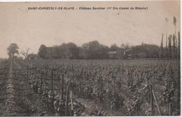 SAINT CHRISTOPHE DE BLAYE  CHATEAU BAVOLIER  1er CRU CLASSE DU BLAYAIS - Frankreich