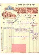 Facture C.IVALDI COGNAC EAUX DE VIE EAUX DE VIE DE VIN JARNAC (Charente) Avril 1931 - France