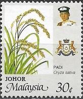 JOHORE 1986 Agricultural Products Of Malaysia - 30c - Rice FU - Malaysia (1964-...)
