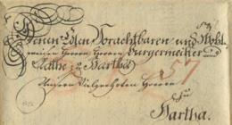 1786 LEIPZIG Schnörkelbrief N. Hartha - Alemania
