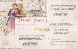 CARTOLINA  - NAPOLI - RICORDO DI NAPOLI - TIEMPE FELICE- CARTOLINA MUSICALE - MUSICA DI V. VALENTE - Napoli