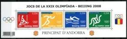 Andorre, N° 658 à N° 661** Y Et T En Mini-feuille - Unused Stamps