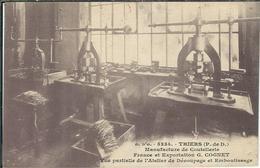 PUY DE DOME : Thiers, Manufacture De Coutellerie G Cognet, Atelier De Découpage Et Emboutissage...... - Thiers