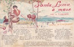 CARTOLINA  - NAPOLI - CARTOLINA MUSICALE - SANTA LUCIA A MARE - Napoli (Napels)