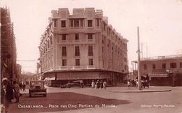 """¤¤  -  MAROC   -   CASABLANCA   -  Place Des Cinq Parties Du Monde  -  Bonneterie """" Au Gaspillage """"       -  ¤¤ - Casablanca"""