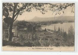 74 Haute Savoie Baie D'annecy Et L'ile Des Cygnes Ed Serindat - Annecy