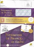 "Brochure De 2019  "" Patrimoine De France En Timbres ""  Et  Son Imprimé Explicatif  ( Voir 3 Scans ) - Documentos Del Correo"