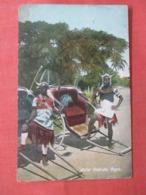Natal Ricksha Boys  Stamp & Cancel  Ref 3838 - Cartoline