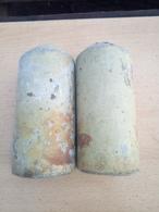 WWII LOT 2x German Stockmine M43 Beton Concrete Mine (Neutralisé) - Armes Neutralisées
