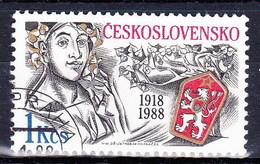 Tchécoslovaquie 1988 Mi 2939 (Yv 2750 ), Obliteré - Tsjechoslowakije