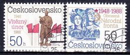 Tchécoslovaquie 1988 Mi 2944-5 (Yv 2755-6 ), Obliteré - Tsjechoslowakije