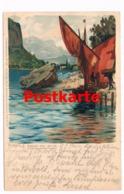 152 Zeno Diemer Torbole Sasso Bimbi Künstlerkarte Selten !! - Italie