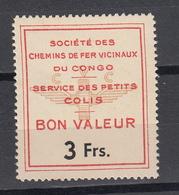 CONGO BELGE  : VICICONGO 4de Serie HERREWEGHE 3 Fr MNH **     (zie Scan) - Unclassified