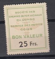 CONGO BELGE  : VICICONGO 4de Serie HERREWEGHE 25 Fr MNH **     (zie Scan) Gommme Coulé - Unclassified