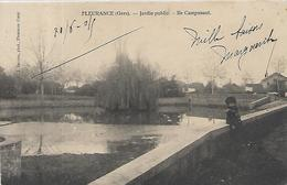 32, Gers, FLEURANCE, Jardin Public, Ile Campunaut, Scan Recto Verso - Fleurance