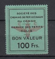 CONGO BELGE  : VICICONGO 4de Serie HERREWEGHE 100 Fr MNH ** RRR    (zie Scan) Petit Defaut De Gomme - Unclassified