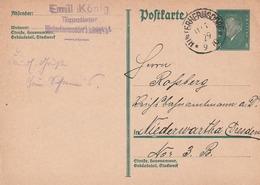 Deutsches Reich / 1929 / K1 UNTERHERMSDORF Auf Postkarte (5117) - Machine Stamps (ATM)