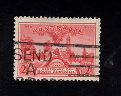 916479901 1936 SCOTT 159 GEBRUIKT USED GEBRAUCHT OBLITERE (O) PROCLAMATION TREE AND VIEW OF ADELAIDE - 1913-36 George V: Heads