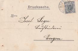 Deutsches Reich / 1900 / Mi. 52 EF Auf Drucksachen-Karte Im Ortsverkehr Engen < Rs. Int. Zudruck > (5119) - Allemagne