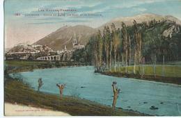 LOURDES Bords Du Gave Le Fort Et La Basilique - Lourdes