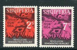 ALBANIA 1964 Anniversary Of Revolution  MNH / **  Michel 836-37 - Albania