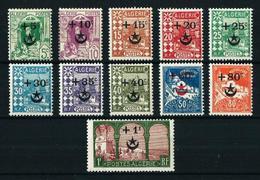 Argelia (Francesa) Nº 58/68 Nuevo* Cat.14,50€ - Algerien (1924-1962)