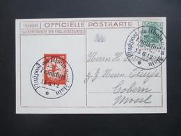 DR 1912 Flugpost Am Rhein Und Main Flugpostmarke I Officielle PK Postkartenwoche Der Grossherzogin Platenfehler?? - Allemagne