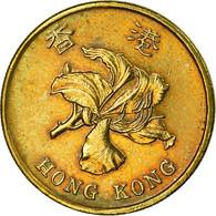 Monnaie, Hong Kong, Elizabeth II, 50 Cents, 1997, TB+, Brass Plated Steel, KM:68 - Hong Kong
