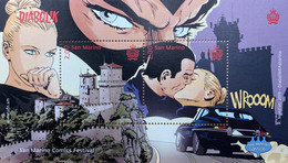 San Marino 2019 Block 87 Comics Festival Zeichnen Kunst Burg In San Marino - San Marino