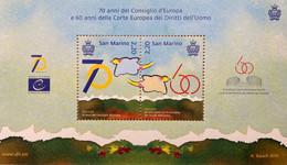 San Marino 2019 Block 88 70 Jahre Europäischer Rat Der Menschenrechte Europarat - San Marino