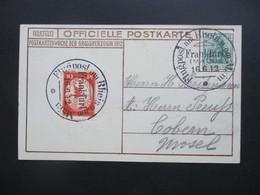 DR 1912 Flugpost Am Rhein Und Main Flugpostmarke I Officielle PK Postkartenwoche Der Grossherzogin Fotokarte Der Kinder! - Allemagne