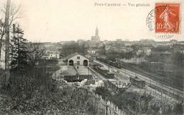 44 - Pontchâteau - Vue Générale, Au Premier Plan La Gare - Pontchâteau