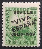 Timbre Local Patriotique De Seville N° 4  Neuf - Emissions Nationalistes