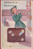 Blankenberge Systeemkaart Humor Humour Carte A Système Groeten Uit Bonjour De Train Trein Mirror Make-up Valise Kiosk - Blankenberge