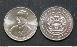 Thailand Coin 20 Baht 2012 80th Prime Minister Office (#54) UNC - Thailand