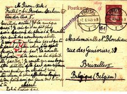 Prisonnier De Guerre 40 45  STO CAMP LAGER FREITAL BEI DRESDEN BELGIQUE  MARQUE  LAGER FUHRER  CENSURE AC - Militaria