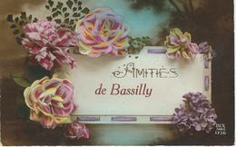 Amitiés De BASSILLY - RARE CPA - Cachet De La Poste 1921 - Silly