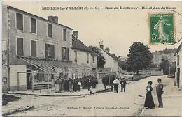 95, Val D'Oise, NESLES LA VALLEE, Rue Du Pontenay - Hotel Des Artistes, Scan Recto Verso - Nesles-la-Vallée